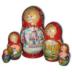 Nesting doll 5 pcs. cathedetals