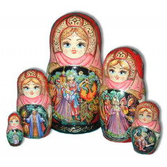 Nesting doll 5 pcs. fairy tale