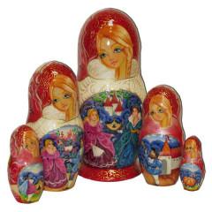 Nesting doll 5 pcs. Cinderella
