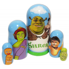 Nesting doll 5 pcs. Shrek