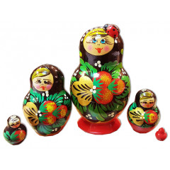 Nesting doll 5 pcs. Strawberry