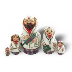 "Nesting doll 5 pcs. 5 pcs ""doctors"""