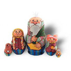 """Nesting doll 5 pcs. Fairy tale """"Turnip"""""""