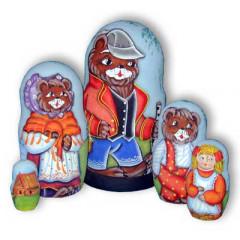 Nesting doll 5 pcs. Three bears