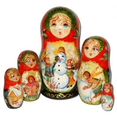 Nesting doll 5 pcs. Snowball B