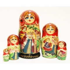 Nesting doll 5 pcs. With a balalaika