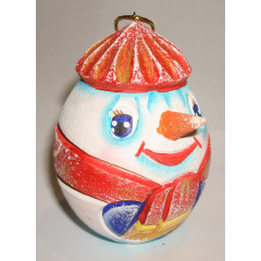 New Year and Christmas christmas tree toy Egg carved the Snowball