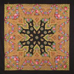 Pavlovo Posad Shawl Pavlovoposadskij with wool fringe 125 x 125 1106-18 The moment