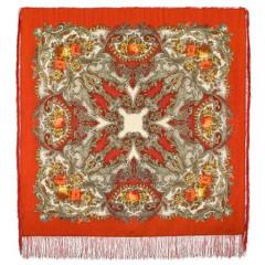 Pavlovo Posad Shawl Pavlovoposadskij with wool fringe 125 x 125 1463-3 Dream of butterfly