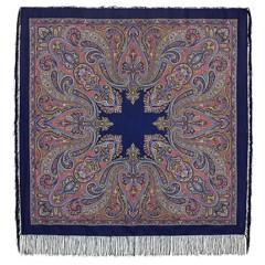 Pavlovo Posad Shawl Pavlovoposadskij with wool fringe 125 x 125 1402-14 Eastern kaleidoscope