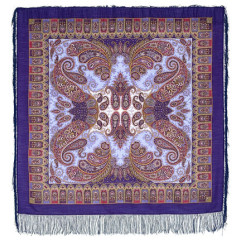 Pavlovo Posad Shawl Pavlovoposadskij with wool fringe 125 x 125 1344-13 Favorite
