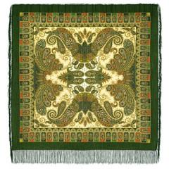 Pavlovo Posad Shawl Pavlovoposadskij with wool fringe 125 x 125 1344-10 Favorite