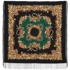 Pavlovo Posad Shawl Pavlovoposadskij with wool fringe 125 x 125 1193-18 Rowan beads