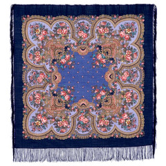 Pavlovo Posad Shawl Pavlovoposadskij with wool fringe 125 x 125 1113-14 Sincere conversation