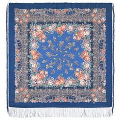 Pavlovo Posad Shawl Pavlovoposadskij with wool fringe 125 x 125 1573-14 Bedtime story