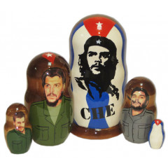 Nesting doll political leaders Che Guevara
