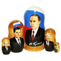 Nesting doll political leaders Putin 5 pcs.