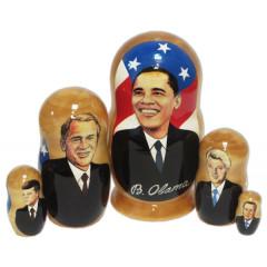 Nesting doll political leaders Barack Obama, The American presidents