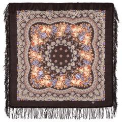 Pavlovo Posad Shawl Pavlovo Posad with wool fringe 89 x 89 1195-17 Gentle evening