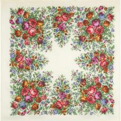 Pavlovo Posad Shawl Pavlovo Posad with wool fringe 89 x 89 1599-1 The garden of the soul