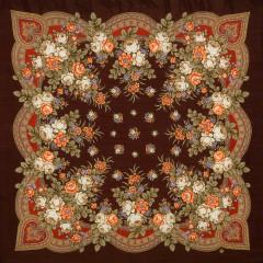 Pavlovo Posad Shawl Pavlovoposadskij with wool fringe 125 x 125 1019-17 Grushenka