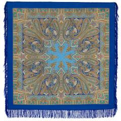 Pavlovo Posad Shawl Pavlovoposadskij with wool fringe 125 x 125 1472-13 Birusinka