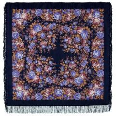 Pavlovo Posad Shawl Pavlovoposadskij with wool fringe 146 x 146 1458-14 Floral fairytale