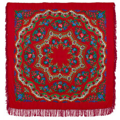 Pavlovo Posad Shawl Pavlovoposadskij with wool fringe 146 x 146 351-5 Bracelet