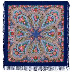 Pavlovo Posad Shawl Pavlovoposadskij with wool fringe 146 x 146 1289-14 Lubava