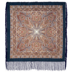 Pavlovo Posad Shawl Pavlovoposadskij with wool fringe 89 x 89 681-13