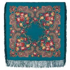 Pavlovo Posad Shawl Pavlovoposadskij with wool fringe 89 x 89 779-11 Stranger