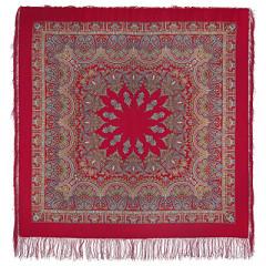 Pavlovo Posad Shawl Pavlovoposadskij with wool fringe 125 x 125 1581-5 Magic dance