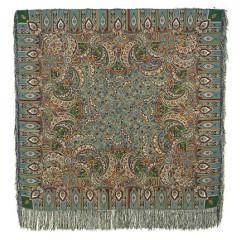Pavlovo Posad Shawl Pavlovoposadskij with wool fringe 125 x 125 598-52 Sadko