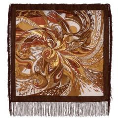 Pavlovo Posad Shawl Pavlovo Posad with silk fringe 89 x 89 1155-2 Saffron, species 2