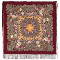Pavlovo Posad Shawl Pavlovoposadskij with wool fringe 125 x 125 982-6 Masquerade ball