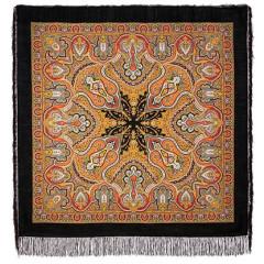 Pavlovo Posad Shawl Pavlovoposadskij with wool fringe 146 x 146 710-18 Spanish