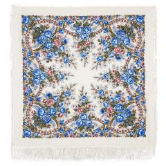 Pavlovo Posad Shawl Pavlovoposadskij with wool fringe 125 x 125 555-4 Spring morning