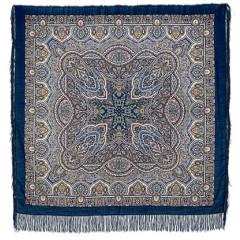 Pavlovo Posad Shawl Pavlovoposadskij with wool fringe 146 x 146 762-14 The semi-casket