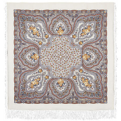 Pavlovo Posad Shawl Pavlovo Posad with silk fringe 146 x 146 406-3 The lilac fairy