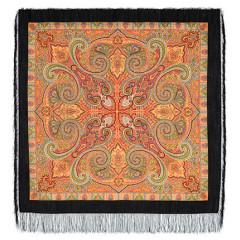 Pavlovo Posad Shawl Pavlovoposadskij with wool fringe 125 x 125 814-18 Classic