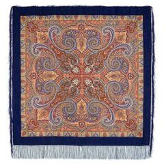 Pavlovo Posad Shawl Pavlovoposadskij with wool fringe 125 x 125 814-14 Classic