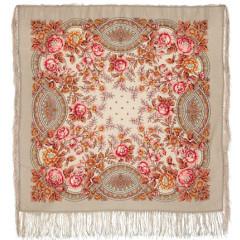 Pavlovo Posad Shawl Pavlovoposadskij with wool fringe 89 x 89 1453-2 The godmother