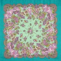 Pavlovo Posad Shawl Pavlovo Posad with silk fringe 89 x 89 1577-12 The Song Lola