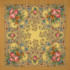Pavlovo Posad Shawl Pavlovoposadskij with wool fringe 89 x 89 1606-2 The magic weaver