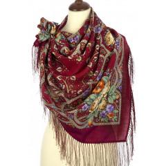 Pavlovo Posad Shawl Pavlovo Posad with silk fringe 89 x 89 1606-5 The magic weaver
