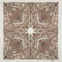 Pavlovo Posad Shawl Pavlovo Posad with silk fringe 89 x 89 1638-1 Amulet