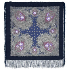 Pavlovo Posad Shawl Pavlovoposadskij with wool fringe 89 x 89 845-14 Forest miracle