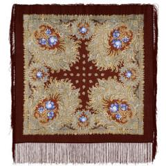 Pavlovo Posad Shawl Pavlovo Posad with silk fringe 89 x 89 845-17