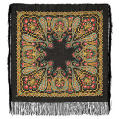 Pavlovo Posad Shawl Pavlovo Posad with silk fringe 89 x 89 766-18 Christmas