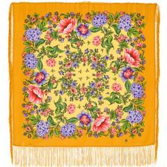 Pavlovo Posad Shawl Pavlovo Posad with silk fringe 89 x 89 1258-14